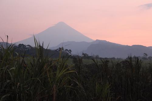 Guatemala mountains at sunset