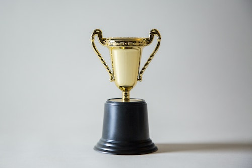 Gold trophy award