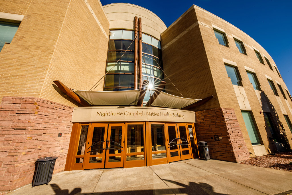 Front entrance of the Nighthorse Campbell Native Health Building