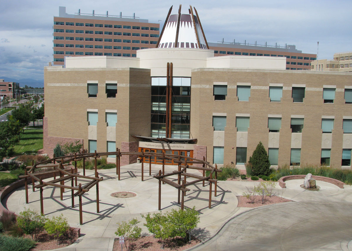 Entrance of the Nighthorse Campbell Native Health Building