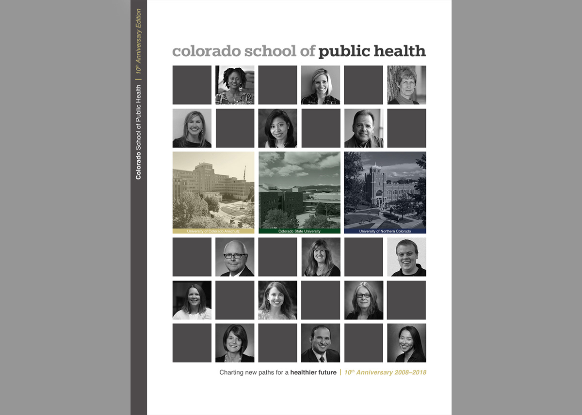 cover of the ColoradoSPH 10th anniversary magazine