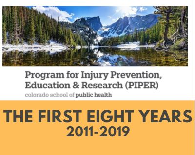 Image of Mountains; Below - Program for Injury Prevention, Education, and Research (PIPER); The First Eight Years 2011-2019