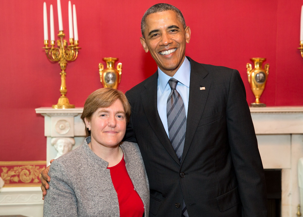 Dr. Comstock with President Obama