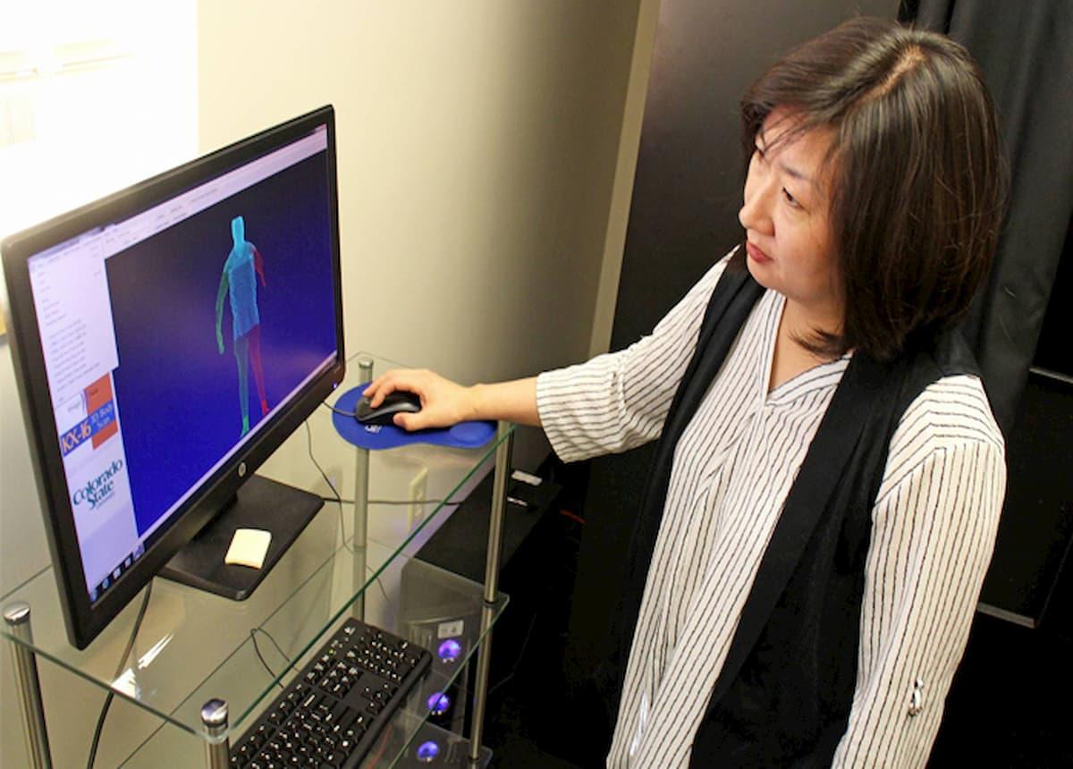 Juyeon Park at virtual reality PC