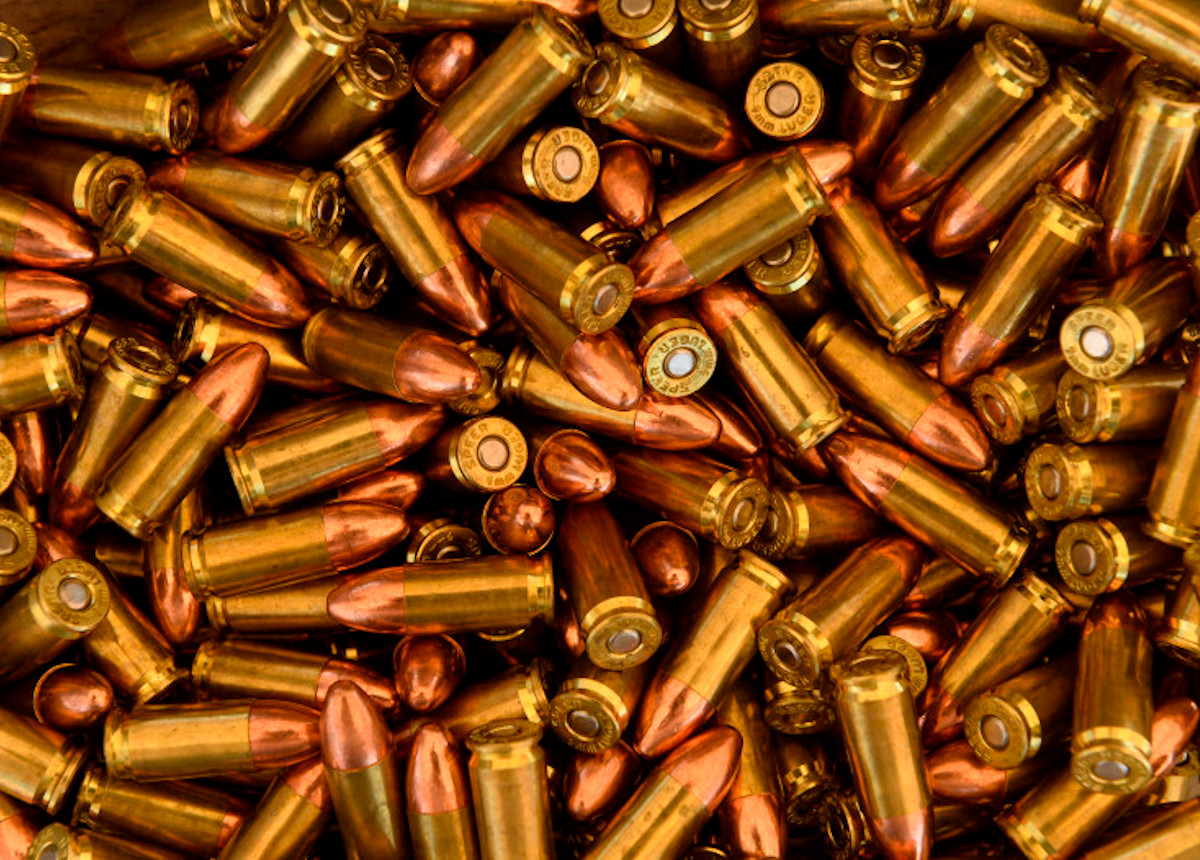 bullets laid out on table