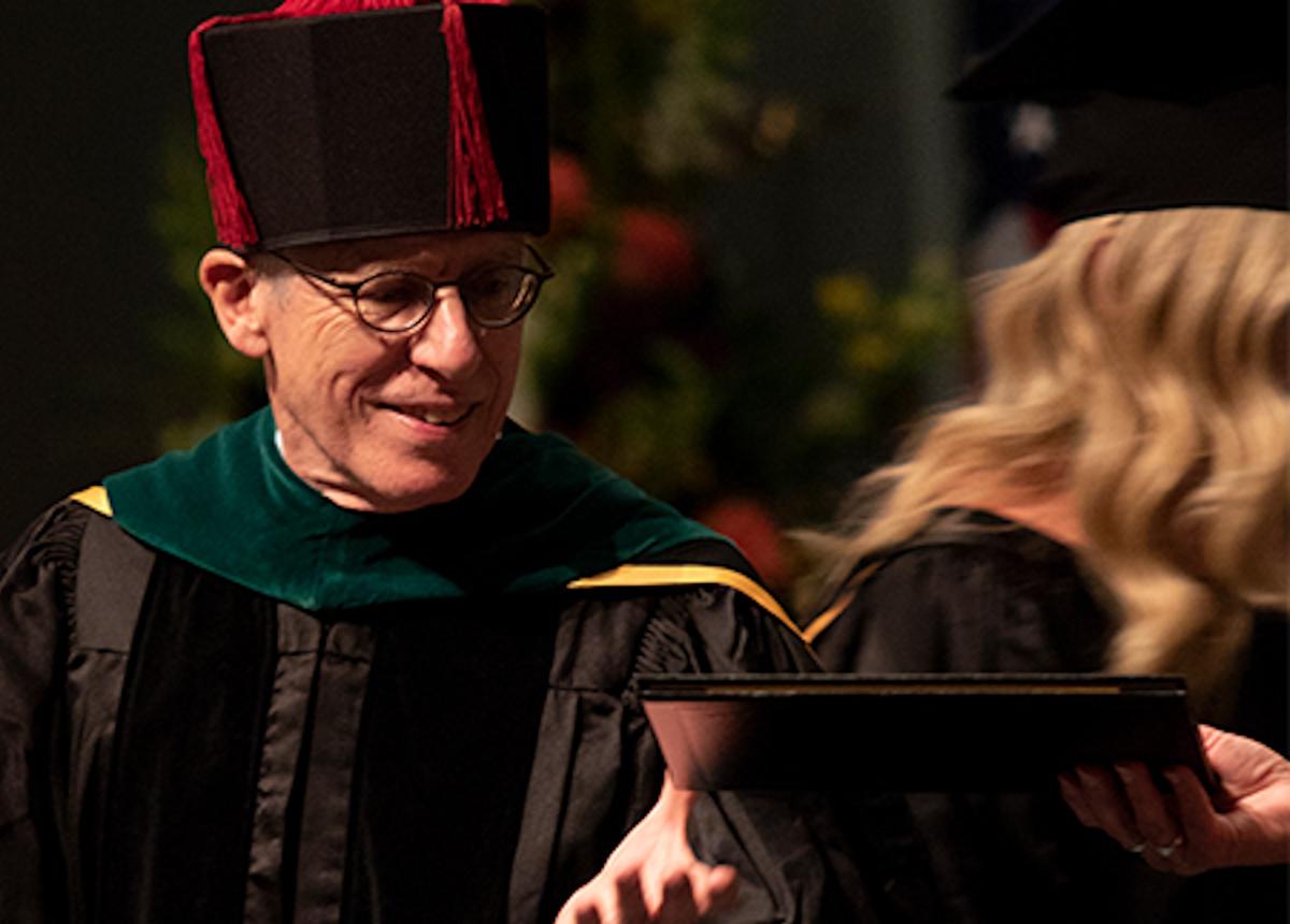 dean samet handing out degrees