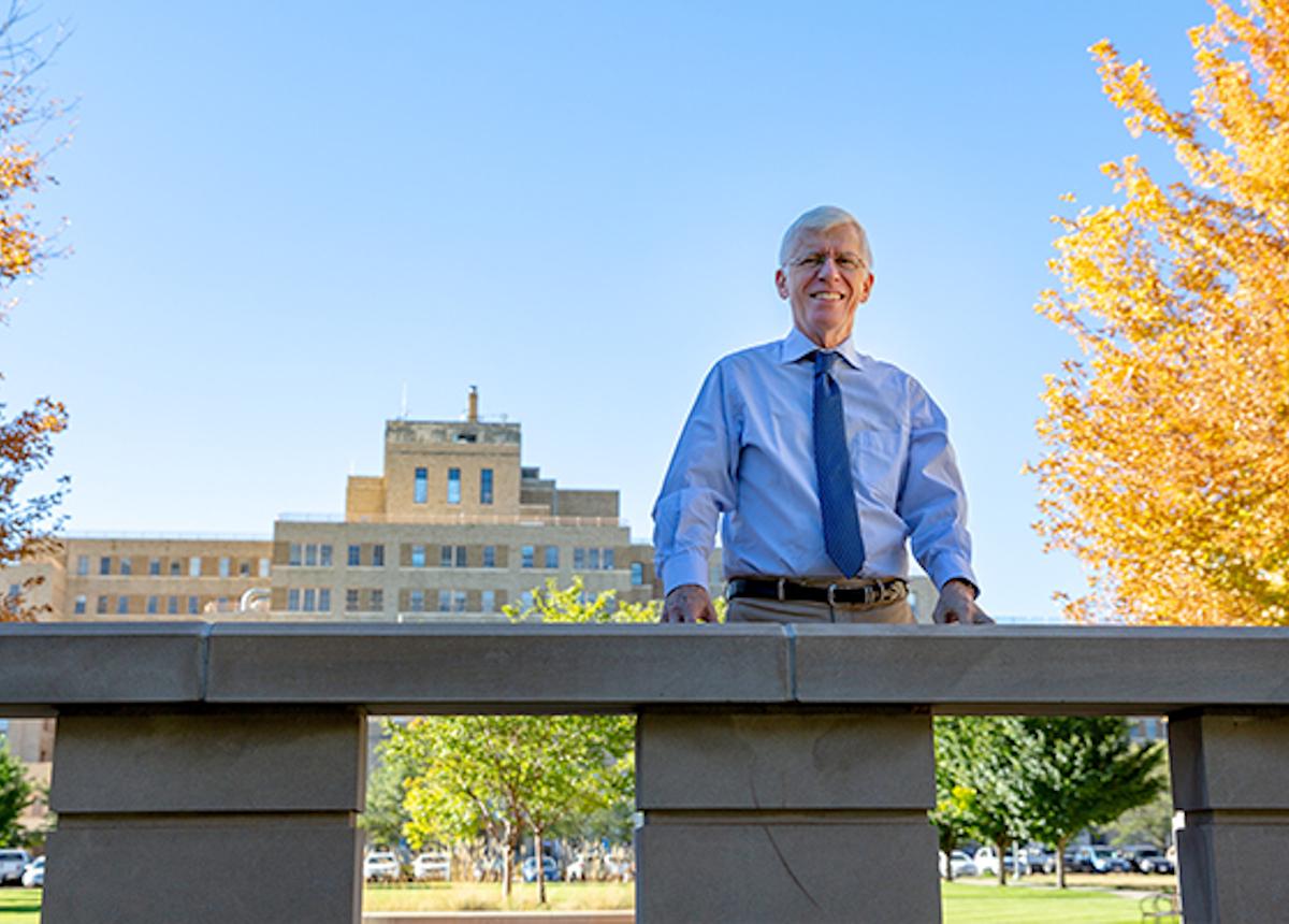 Dean Samet on campus photo