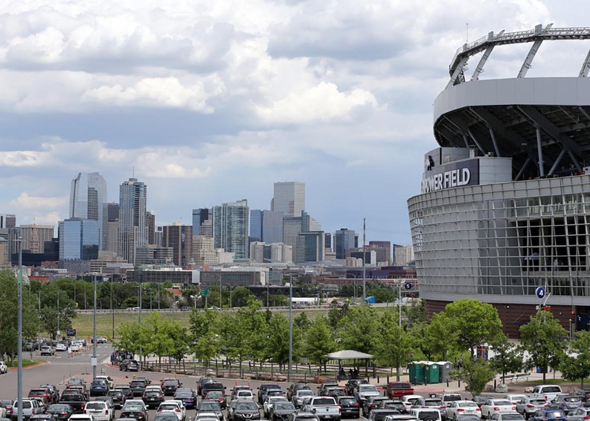 Empower Stadium parking lot during game