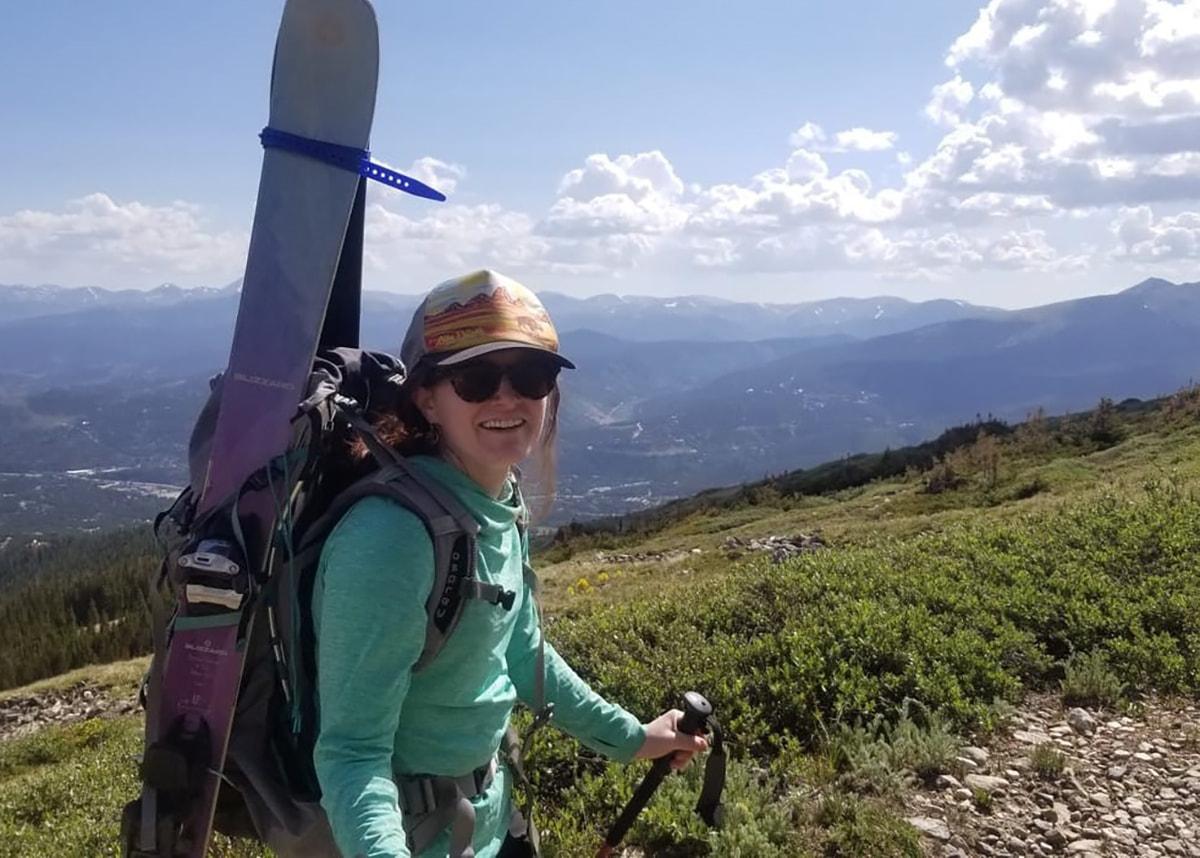Laura landrum hiking in mountains