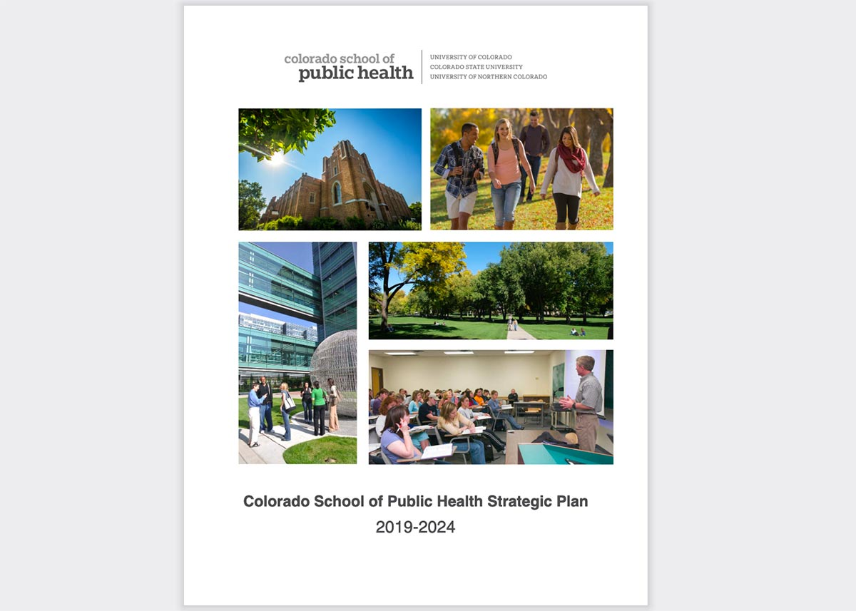 cover of the 2019-2024 ColoradoSPH strategic plan