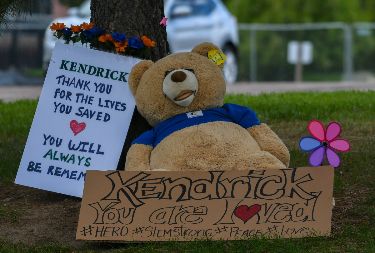 teddy bear at a memorial