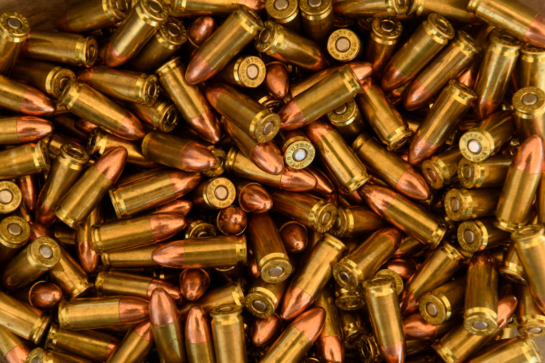 bullets on table
