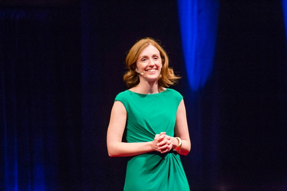 Emmy Betz talking at TEDx Conference