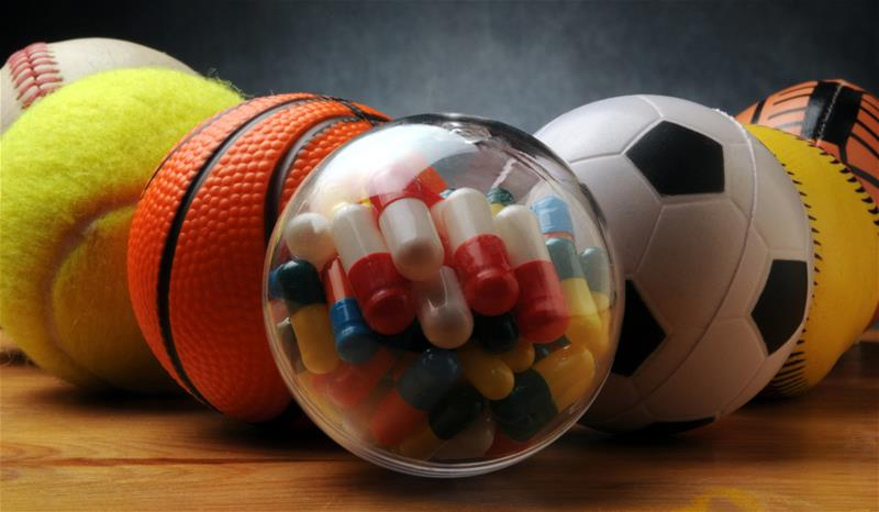 sports balls and pills